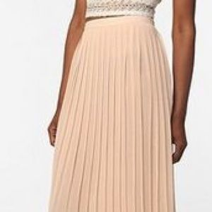 UO Sparkle and Fade Pleated Ballerina Maxi Skirt